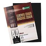 D.RECT - Portadas para encuadernar de cartón 250 gr/m2, extra rígido, A4, negro, paquete de 100 unidades, con estructura de pie, 008702