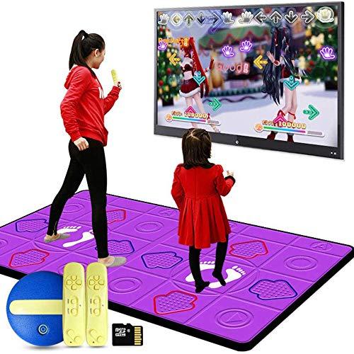 LANGYINH Senza Fili Doppio Tappeti da Ballo Dance Pad,Antiscivolo Somatosensoriale Tappeti da Ballo,Adatto A Danza,Fitness,Divertimento,TV Computer Doppio Uso