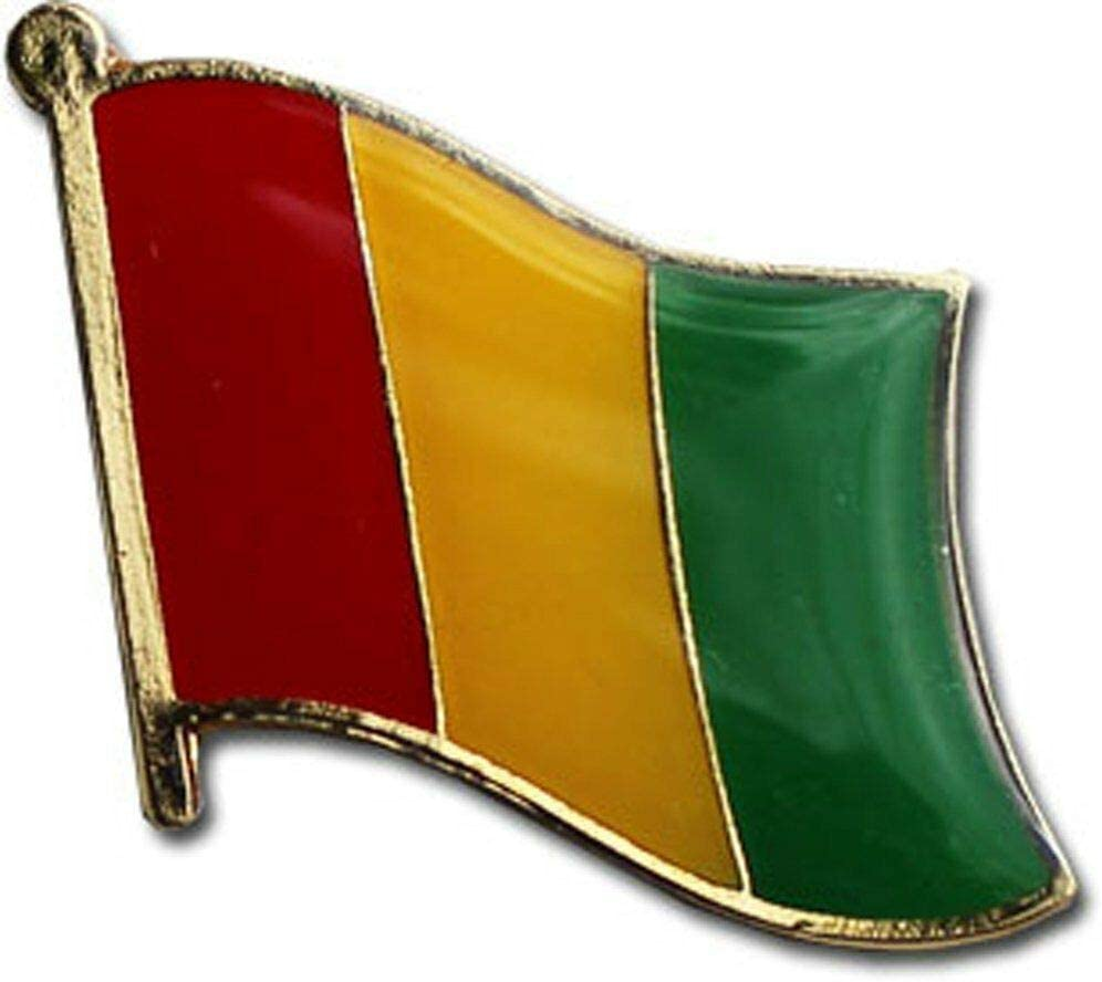 Wholesale Pack of 3 Guinea Country Flag Pin Bike b Bargain sale Hat Special price Cap Lapel