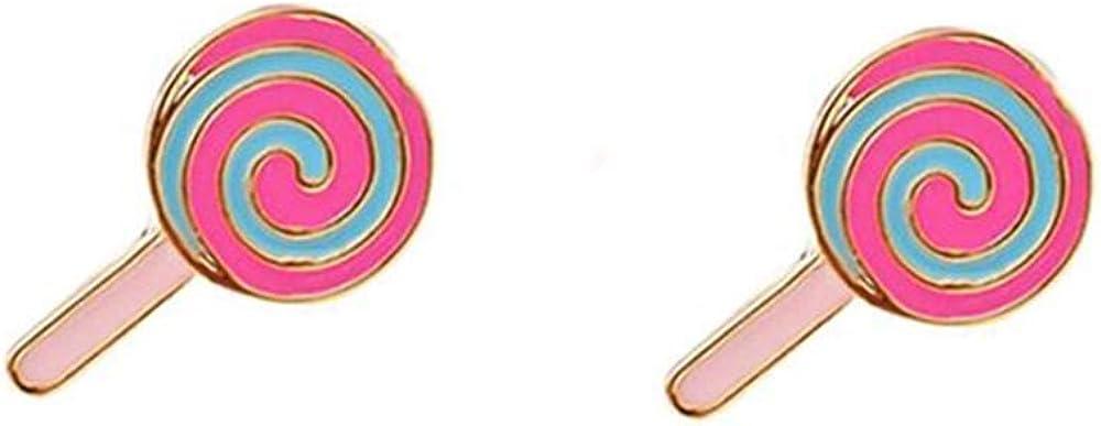 HAPPYAN Fashion Clip On Earrings for Women Cartoon Cake Ice cream Lollipop No Pierced Earrings