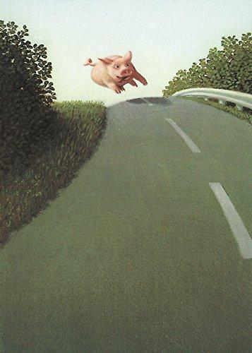 Postkarte A6 • 5508 ''Autobahnsau'' von Inkognito • Künstler: Michael Sowa • Satire • Fantastik • Neujahr