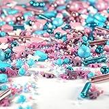 mySprinkles Zuckerstreusel bunt Einhorn rosa hellblau 180g - Bunte Streusel perfekt als Tortendeko für Kindergeburtstag Geburtstag Kinder Deko Torte Kuchen Cupcakes Muffins Cakepops