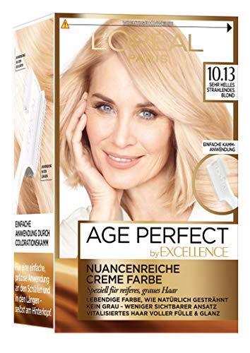 L'Oréal Paris Excellence Age Perfect Coloration, 10.13 sehr helles strahlendes blond, 3er Pack (3 x 1 Stück)