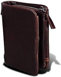 IRF Wallet Mens, Cuir véritable Autour de Porte-Vi