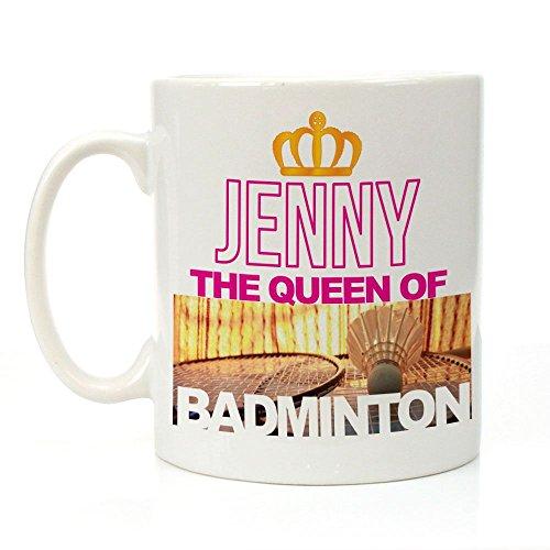personalisierbar The Queen Of Badminton Tasse, Sport-Geschenke für SIE, Badminton Geschenk Ideen