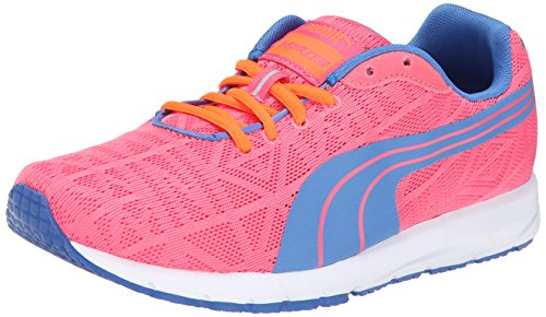 PUMA Narita V2 JR Sneaker (Little Kid/Big Kid) , Fluorescent Pink/Strong Blue, 6 M US Big Kid