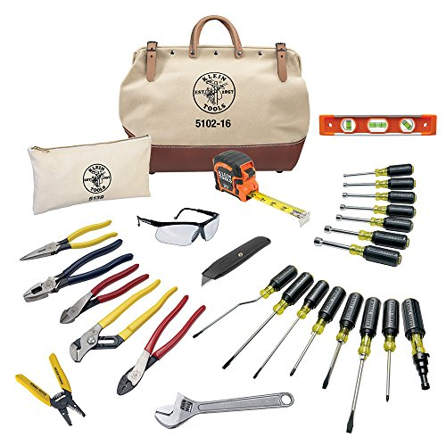 Electrician Hand Tools Set - 28 Piece, Pliers, Screwdrivers, Nut Drivers, Wrenches, More Klein Tools 80028