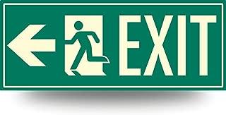 Fire Exit Photoluminescent Sign Running Man (Left Arrow) 15