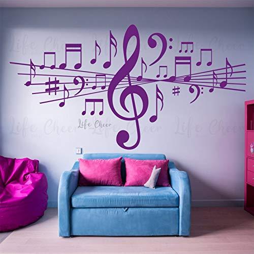 ASFGA Rockmusik Wohnzimmer Notizen abnehmbare Wandaufkleber Home Bar Dekoration Vinyl Aufkleber Studio Schlafzimmer Tanz Kunst Geschenk Poster 110X220 cm