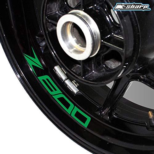 psler Motorrad Reifen Reflektierende Aufkleber Felgenaufkleber für Kawasaki Z800