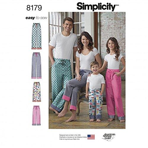 Simplicity 8179 Schnittmuster für Freizeithose und Schlafanzughose