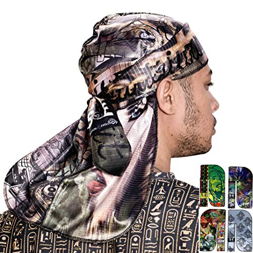 S4E Your Way Luxurious Satin Durag for Men and Women - Long Wide Straps Durag Cap for Men 360, 540, 720 Waves - Custom Designer Durag with Superior Compression