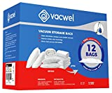 Vacwel Vacuum Storage Bags for Clothes, Ziplock Space Saver Bags (JUMBO + LARGE size)