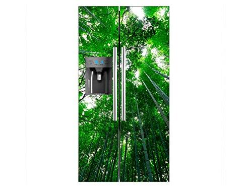 Vinilo Frigorífico Americano Vista Fugada Bambú | 91x177cm | Varias Medidas |...