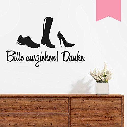 WANDKINGS Wandtattoo - Schuhe bitte ausziehen - 50 x 32 cm - Hellrosa - Wähle aus 5 Größen & 35 Farben