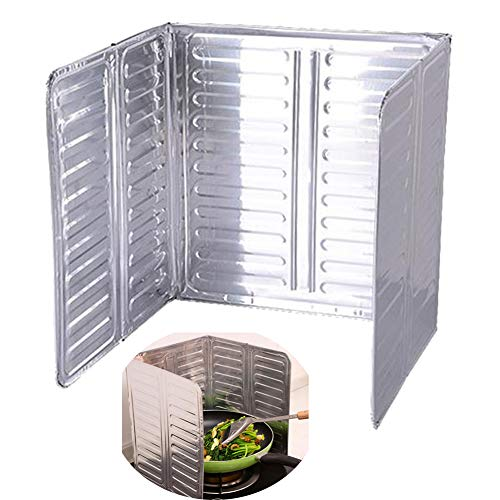JUNGEN Pieghevole Paraschizzi Per Cucina Placca Antischizzo Deflettore Alluminio Proteggere Pareti Fornello Pavimenti D'olio Schizzi