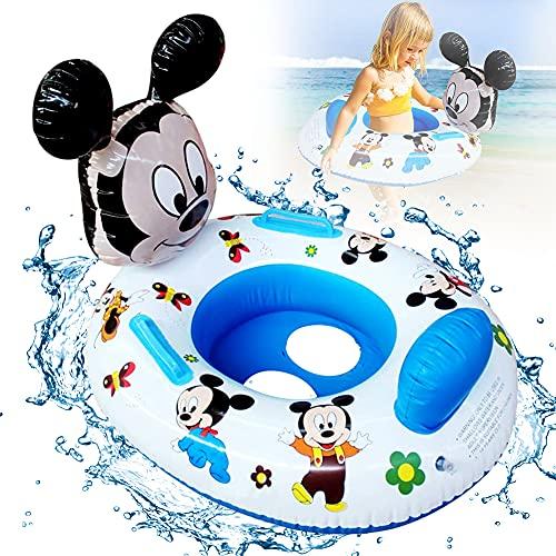 Anello da Nuoto per Bambini, Mickey Salvagente Bambini Galleggiante Regolabile Gonfiabile Bambino Dell'anello di Nuoto del Bambino Anello da Nuoto Gonfiabili