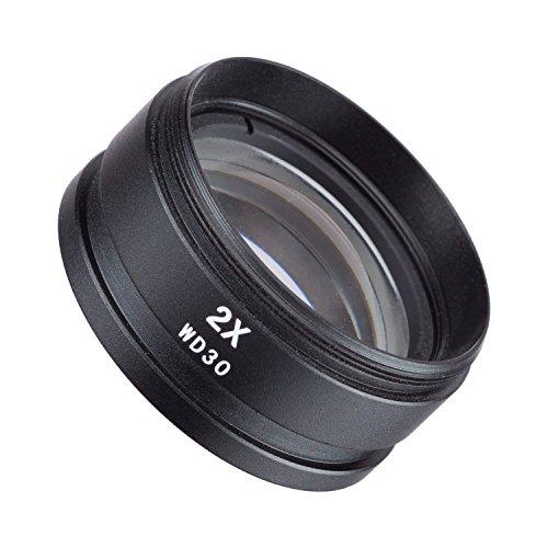 AmScope SM20 Barlow-Objektiv für SM und SW-Stereomikroskope, 48mm, 2X