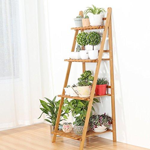 MILUCE Multi-Couche Folding Flower Pot Rack, Carbonation Haute Température, humidité Mothproof, Salon Balcon Stand d'usine (Taille : 50 cm)