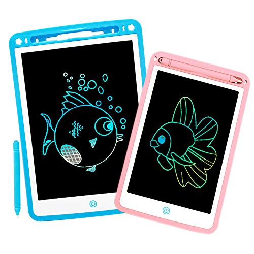 2Pack LCD Writing Tablet Afoskce 10'' & 8.5'' Electronic Graphic Tablet, Colorful Writing & Drawing Doodle Board with Memory Lock Digital Writing Pad Toy Gifts for Kids Adults at Home, School, Office