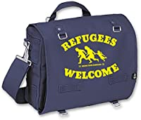 Racker-n-Roll REFUGEES WELCOME Soli-Packtasche