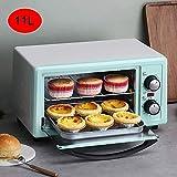 10l múltiples funciones Horno eléctrico, Home Baking pequeña tostadora, Control de Temperatura Horno Mini Cake, El tiempo y la temperatura puede ser controlada, el mejor regalo, Negro, Rosa hsvbkwm
