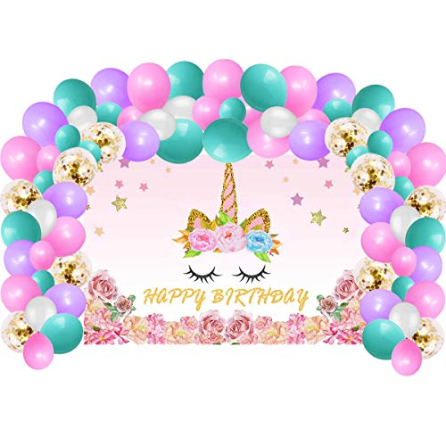 Unicorn Birthday Party Supplies & Decorations For Girls