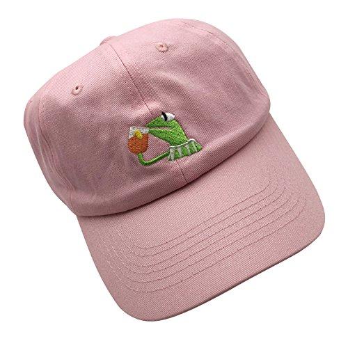 Kemit the Frog Sipping Tea Dad Hat Adjustable Strapback Cap Champion Cap Unisex