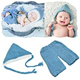 Newborn Photography Props Outfits Baby Boy Girls Cute Bunny Rabbit Costume Pants Set Turtle Blue