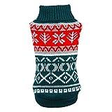 suéter del Perro para el otoño Invierno Ropa de Abrigo Tejer Crochet para Perros Chihuahua dachsh Prendas clásicas para Perros pequeños, Verde, L
