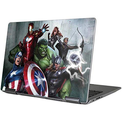 Skinit Decal Laptop Skin Compatible with Yoga 710 14in - Officially Licensed Marvel/Disney Avengers Assemble Design