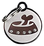 GoTags Pet ID Designer Dogs & Cats Bowl Pet Tags, 1' x 1'