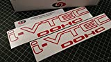 Aftermarket I VTEC DOHC 12' (Pair X2) Vinyl Decal Sticker Select Color (Gloss Red)