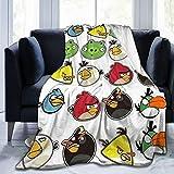 VernonG Angry Birds 3D Printed Fleece Throw Blanket Living Room Flannel Blanket 50' X40