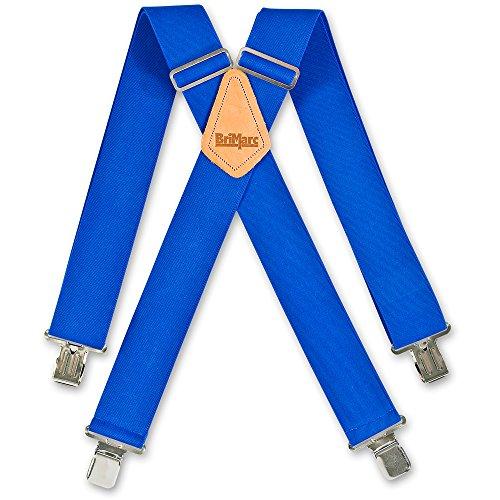 Plain Wide Braces Brimarc - Bretelles - - Uni Homme Bleu Bleu
