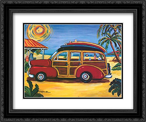 Red Woody 2X Matted 21x17 Black Ornate Framed Art Print by Suzanne Etienne