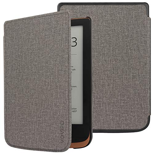 VOVIPO Slanke hoes compatibel met Pocketbook Touch Lux 4/Lux 5/Touch HD 3/Color (2020) – PU e-Reader Cover