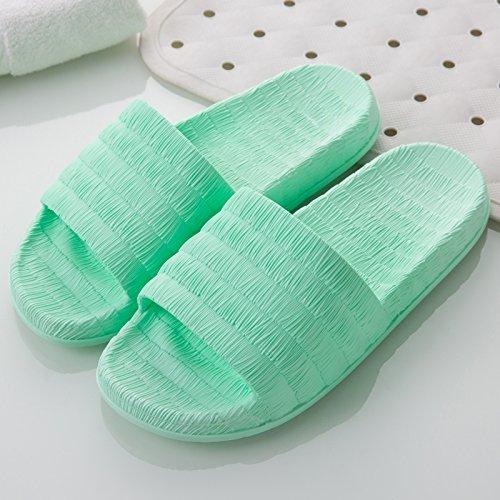 FankouDie Bäder sind kühl im Sommer Sandalen Frauen Hausschuhe in Ihrem Wohnzimmer. Die Gäste ein paar rutschfestem Kunststoff Pantoffeln männlichen Sommer, 35-36, grün
