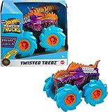 Hot Wheels Monster Trucks Twisted Tredz Mega Wrex Coche de juguete, regalo para niños +3 años (Mattel GVK39)