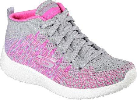 Skechers Kids Girls' Burst-Sweet Symphony Sneaker,Blue/Hot Pink,2.5 M US Little Kid
