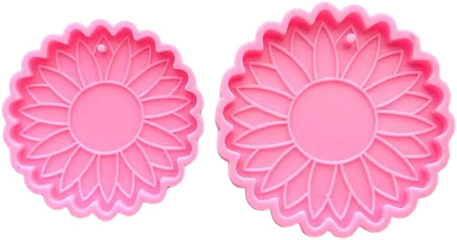 Unknows Special price for a limited time 2 Pcs Big and Small Mold Epoxy Resin Keychain Sunflowers New color