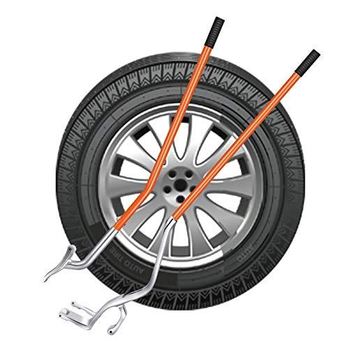 KKTECT Desmontadores de Neumático Kits de Acero/Aluminio, para neumáticos de camión y de Moto, etc,Kit de Herramientas de desmontaje de Montaje de Llantas de 17.5'a 24'
