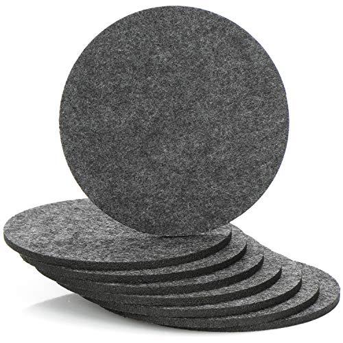 com-four® 8X Untersetzer aus Filz - runde Tischuntersetzer - Untersetzer für Töpfe, Gläser, Schüsseln und Vasen