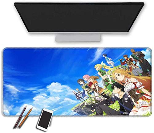 BOIPEEI RGB Mouse Pad Anime to-kyo Gh-OUL Mouse Pad Durable Stitched Edges Thick Rubbre Base Oversized Wateproof Gaming Mousepad Washable Computer Keyboard Mouse Mat Office A T90