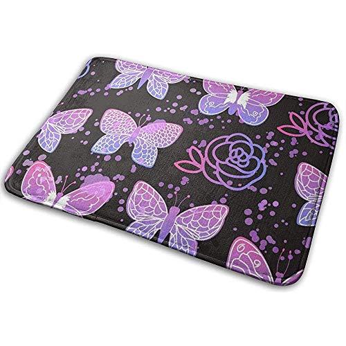 DaiMex Fantasie vlinders rozen ruimte kunst vloermat vloermat tapijt vloermatten