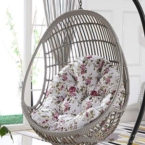 ZHBH Cojín de asiento colgante para cesta de columpio, impermeable, grueso, para colgar huevo, hamaca para patio, jardín, multicolor, para elegir 90 x 120 cm