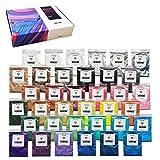 Pigmento en polvo de mica 36 colores para kit de resina epoxi set de jabón para hacer bombas de baño pintura de esmalte de uñas de maquillaje para hacer velas de resina metálica Pigmento de color