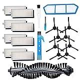 Kit de accesorios para piezas de aspiradoras robotizadas ILIFE A4S, cepillo principal Filtros laterales Hepa