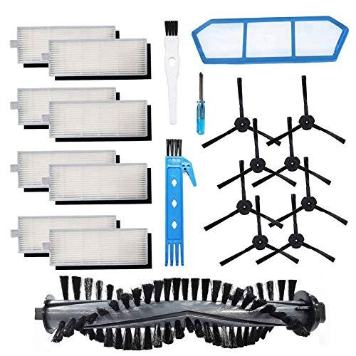 BSDY YQWRFEWYT Kit di Accessori per ILIFE A4s Aspirapolvere Robot, Spazzola Principale Spazzola Laterale per filtri Hepa