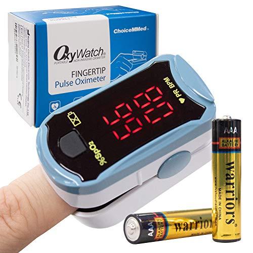 OxyWatch OxyWatch - Oxímetro de pulso con punta de dedo | Compacto y fácil de usar | Saturación de oxígeno en sangre y monitor de frecuencia cardíaca